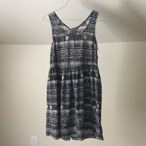 UO ECOTE Black Sleeveless Snap OpenBack Mini Dress